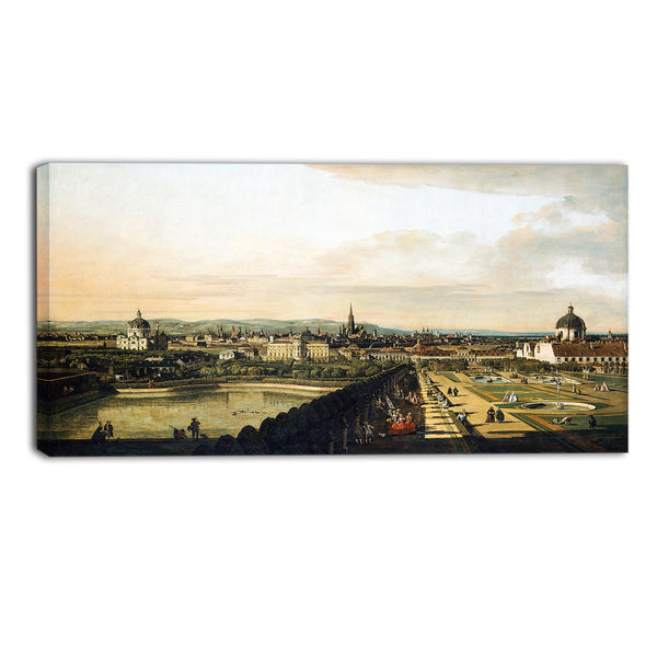 MasterPiece Painting - Bernardo Bellotto Vienna Viewed from the Belvedere Palace