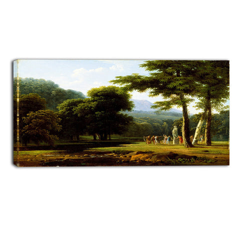 MasterPiece Painting - Bertin Jean Victor Landscape