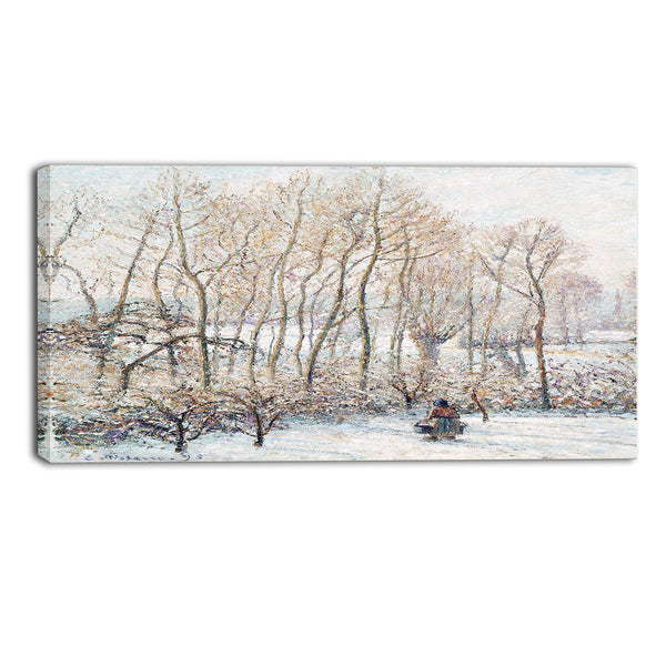 MasterPiece Painting - Camille Pissarro Morning Sunlight on the Snow