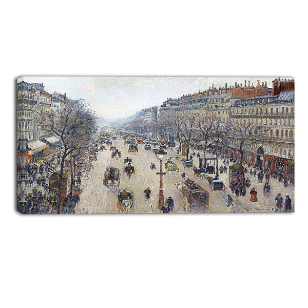 MasterPiece Painting - Camille Pissarro Boulevard Montmartre, morning, cloudy weather