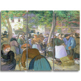 MasterPiece Painting - Camille Pissarro Polutry Market at Gisors