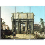 MasterPiece Painting - Canaletto View of the Arch of Constantine with the Colosseum