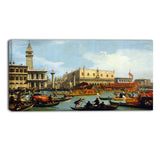 MasterPiece Painting - Canaletto Bucentaur's return to the pier by the Plazzo Ducale