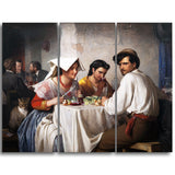 MasterPiece Painting - Carl Bloch In a Roman Osteria