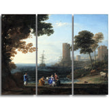 MasterPiece Painting - Claude Lorrain Coast View with the Abduction of Europa