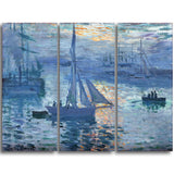 MasterPiece Painting - Claude Monet Sunrise (Marine)