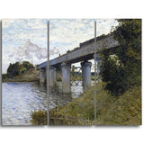 MasterPiece Painting - Claude Monet The Railroad bridge in Argenteuil