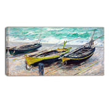 MasterPiece Painting - Claude Monet Three Fishing Boats