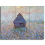 MasterPiece Painting - Claude Monet Grainstack Sun in the Mist