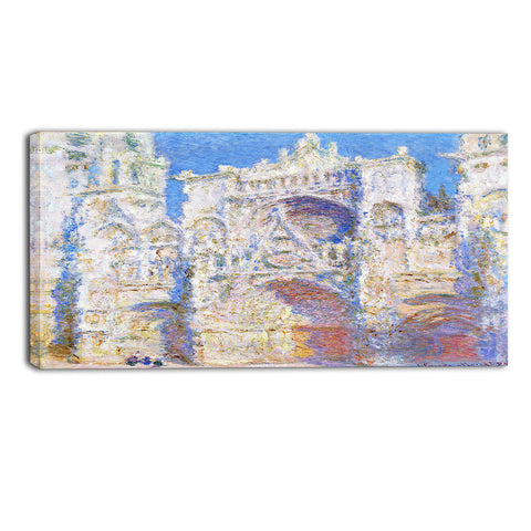 MasterPiece Painting - Claude Monet Rouen Cathedral West Facade Sunlight