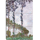 MasterPiece Painting - Claude Monet Wind Effect Series of The Poplars