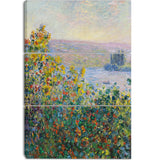 MasterPiece Painting - Claude Monet Flower Beds at Vetheuil