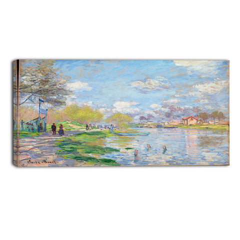 MasterPiece Painting - Claude Monet Spring by the Seine