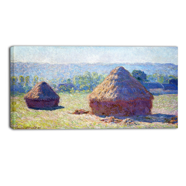 MasterPiece Painting - Claude Monet Haystacks End of Summer