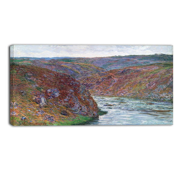 MasterPiece Painting - Claude Monet Valley of the Creuse (Gray Day)