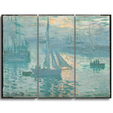 MasterPiece Painting - Claude Monet French Sunrise (marine)