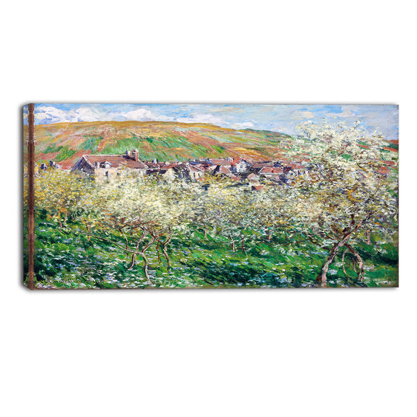 MasterPiece Painting - Claude Monet Flowering Plus Trees