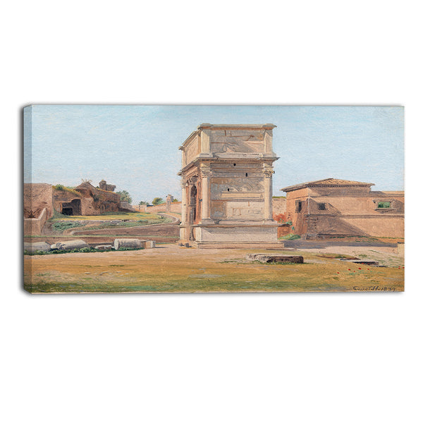 MasterPiece Painting - Constantin Hansen The Arch of Titus in Rome