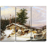 MasterPiece Painting - Cornelius Krieghoff Settler's Log House