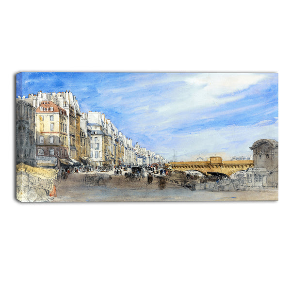 MasterPiece Painting - David Cox Pont Neuf from the Quai de l'Ecole
