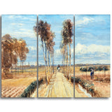 MasterPiece Painting - David Cox The Poplar Avenue, after Hobbema