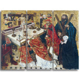 MasterPiece Painting - Diego de la Cruz The Mass of Saint Gregory