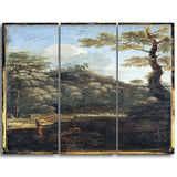 MasterPiece Painting - Dughet, Gaspard A Castle in a Wood
