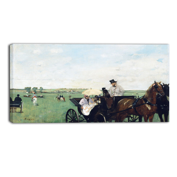 MasterPiece Painting - Edgar Degas At the Races in the Countryside