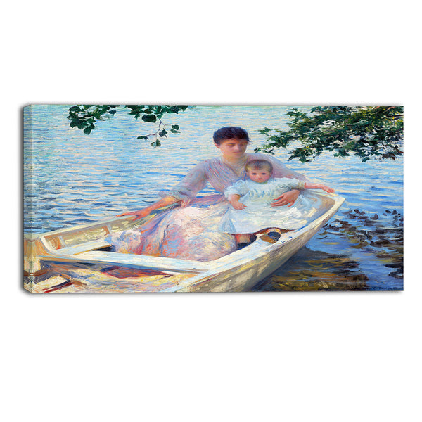 MasterPiece Painting - Edmund Charles Tarbell Mother and Child in a Boat
