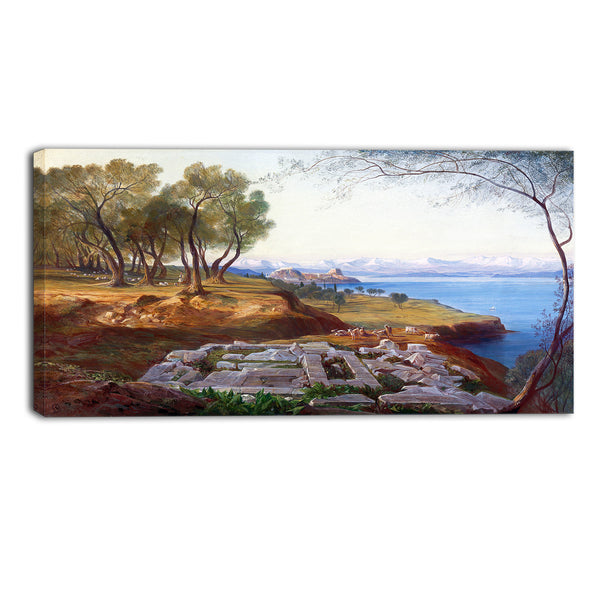 MasterPiece Painting - Edward Lear Corfu from Ascension