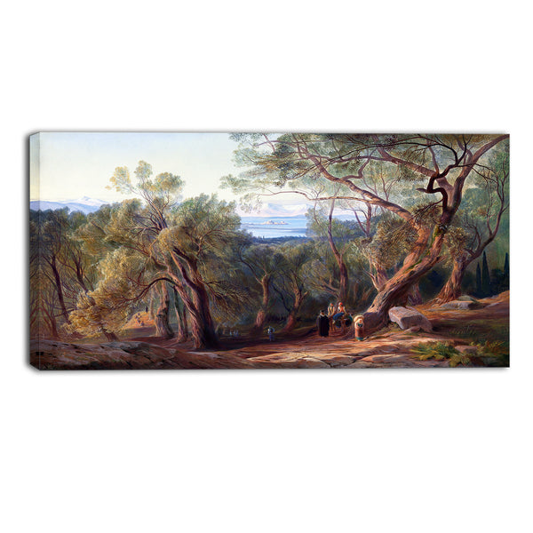 MasterPiece Painting - Edward Lear Corfu from Santa Decca