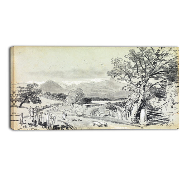 MasterPiece Painting - Edward Lear Derwentwater, September 1836