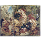 MasterPiece Painting - Eugene Delacroix The Lion Hunt