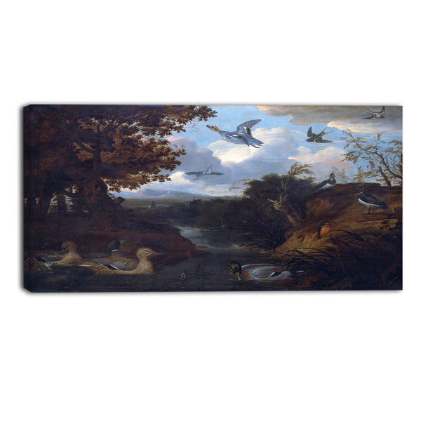 MasterPiece Painting - Francis Barlow Ducks and Other Birds about a Stream