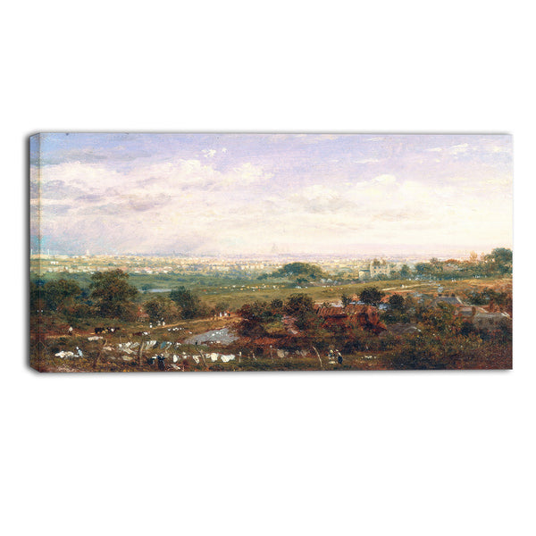MasterPiece Painting - Frederick Nash London from Islington Hill