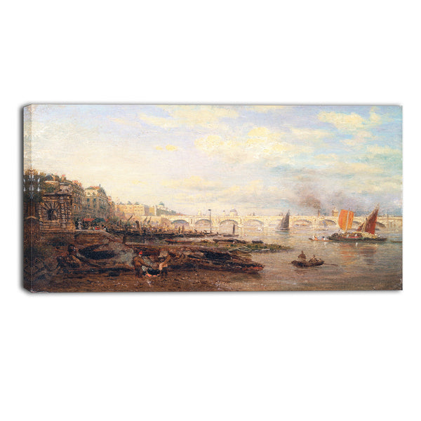 MasterPiece Painting - Frederick Nash The Thames and Waterloo Bridge
