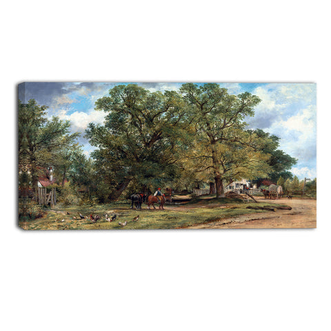 MasterPiece Painting - Frederick W Watts Landscape with Cottages