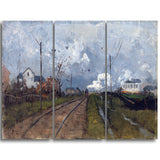 MasterPiece Painting - Frits Thaulow The Train is arriving