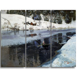 MasterPiece Painting - Frits Thaulow Winter at the River Simoa