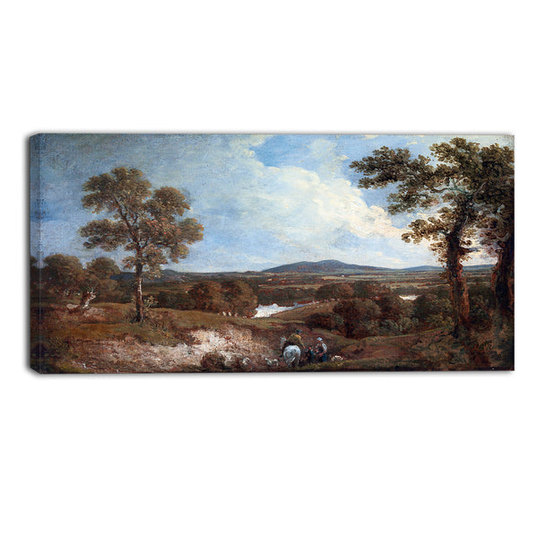 MasterPiece Painting - George Howland Landscape with Figures in the Foreground
