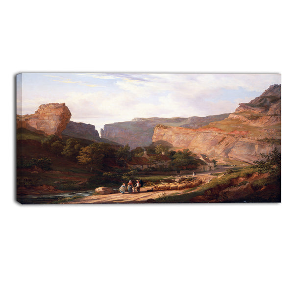 MasterPiece Painting - George Vincent A View of Cheddar Gorge