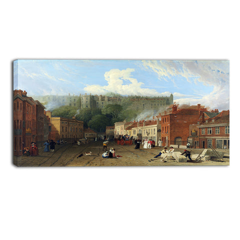 MasterPiece Painting - George Vincent A View of Thames Street, Windsor