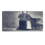 MasterPiece Painting - Georges Seurat Nurse with a Chile's Carriage