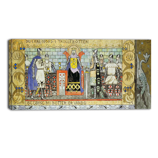 MasterPiece Painting - Gerhard Munthe Asmund in the King's Hall