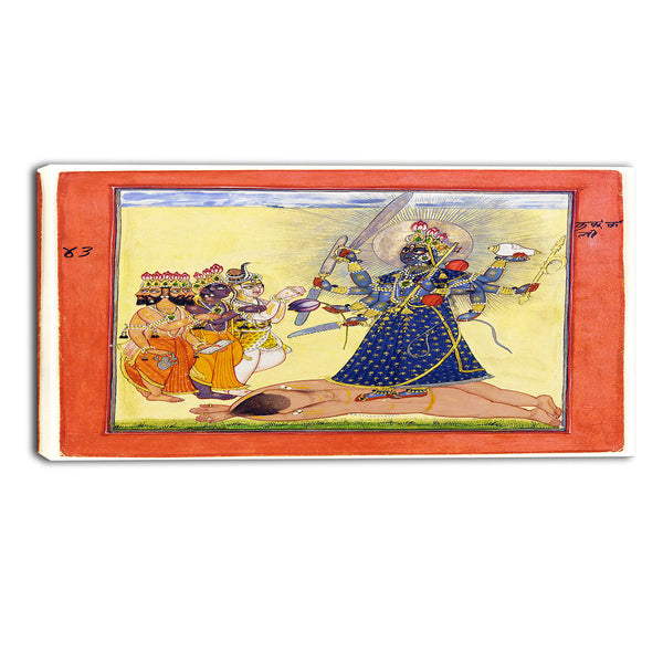 MasterPiece Painting - Goddess Bhadrakali Worshipped by the Gods