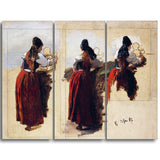 MasterPiece Painting - Han Gude Studies of a Woman from Rugen