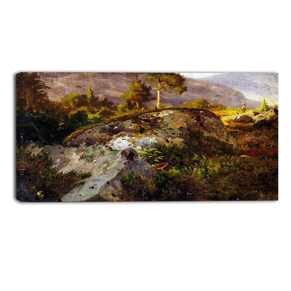 MasterPiece Painting - Hans Gude Landscape Study from Vaga