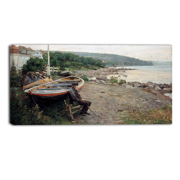 MasterPiece Painting - Hans Heyerdahl View from Asgardstrand