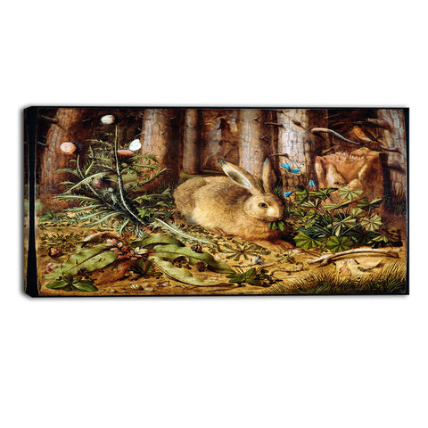 MasterPiece Painting - Hans Hoffmann A Hare in the Forest