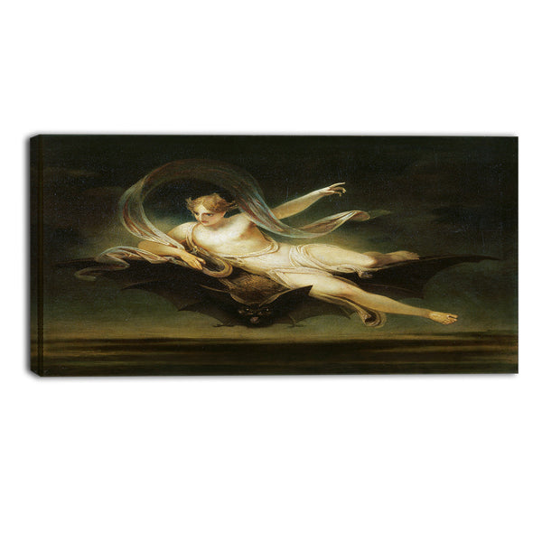 MasterPiece Painting - Henry Singleton Ariel on a Bat's Back